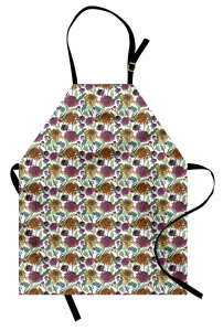 Bloomed Japanese Flower Apron