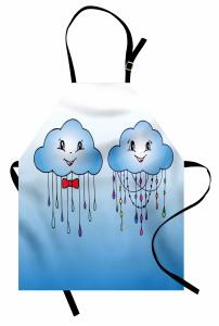 Doodle Clouds with Rain Apron