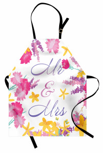 Colorful Wedding Flowers Apron