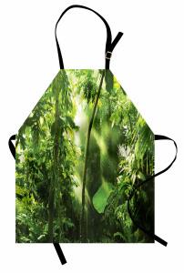 Sommer Tropischer Pflanzen Dschungel Kochschürze