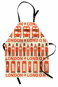 Touristic Attractions Flags Apron