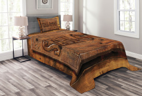 Wooden Carving Style Saloon Bedspread