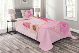 Prinzessin Schlafzimmer Interior Tagesdecke Set
