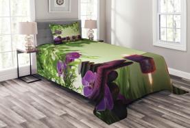 Badekurort-Kerzen-Orchideen blühen Tagesdecke Set