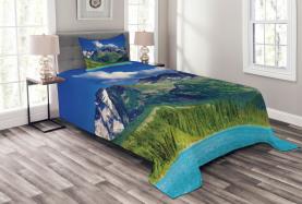 See in den Altai-Bergen Tagesdecke Set