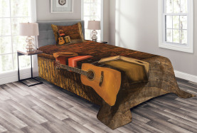 Wooden Stage Pub Cafe Bedspread
