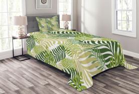 Tropische exotische Palmen Tagesdecke Set