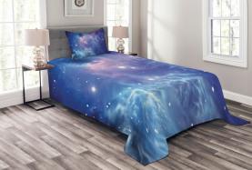 Sternhaufen im Weltraum Tagesdecke Set