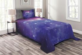 Milchstraße Galaxy Sterne Tagesdecke Set