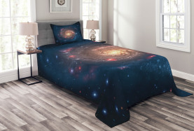 Schwarzer Loch-Kosmos-Raum Tagesdecke Set