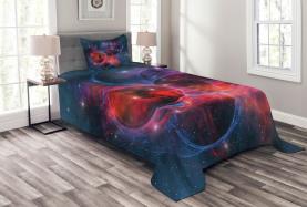 Milchstraße Sternhaufen Tagesdecke Set