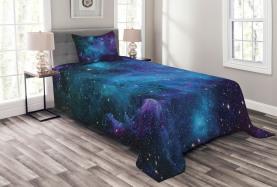 Galaxy Sterne im Weltraum Tagesdecke Set