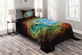 Supernova Sterne Kosmos Tagesdecke Set