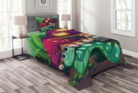 Wurm Pilz Haus Tagesdecke Set