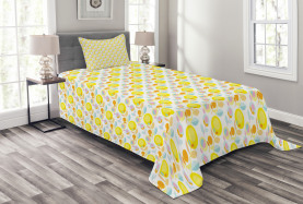 Abstract Summer Flowers Bedspread