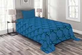 Blue Hydrangea Blossom Bedspread
