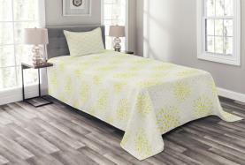 Chrysanthemum and Dahlia Bedspread