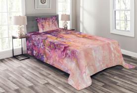 Aquarell Glyzinienblüten Tagesdecke Set