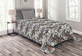 Monarch Butterfly Retro Bedspread