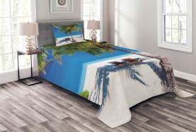 Island Palms Sonnenliegen Tagesdecke Set