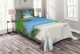 Palm Leaf tropischen Strand Tagesdecke Set
