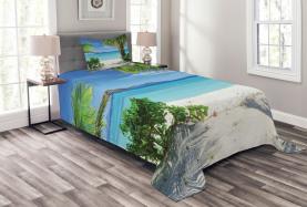Idyllisches Oceanic Resort Tagesdecke Set