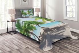 Palmen-Insel-Ufer Tagesdecke Set