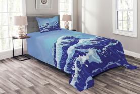Große Tsunami-Ozean-Natur Tagesdecke Set