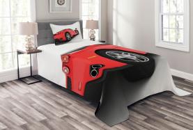 Rotes Supersportwagen Tagesdecke Set