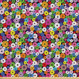 Floral Vivid Daisies Fabric by the Yard