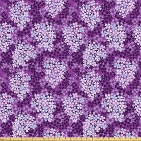 Hydrangea Lilacs Field Fabric by the Yard