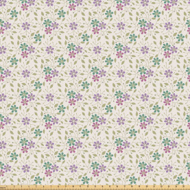 Abstract Flora Romance Fabric by the Yard