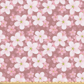 Cherry Blossoms Petal Fabric by the Yard