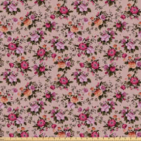 Floral Pattern with Rose Fabric by the Yard