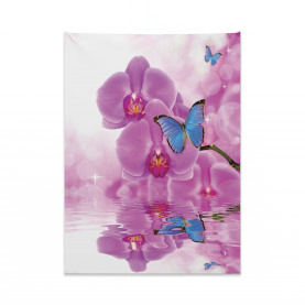 Orchid Bloom on Water Tapestry