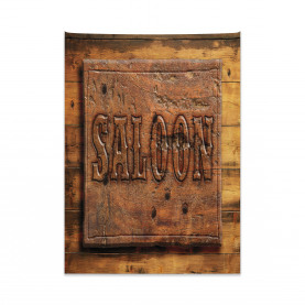 Wooden Carving Style Saloon Tapestry
