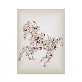 Blumenpferd Paisley Wandteppich