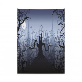 Dark Forest with Swirl Tapestry