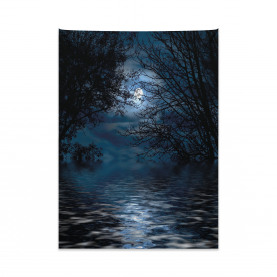 Forest with Full Moon Tapestry