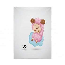 Cartoon Sheep Kids Tapestry