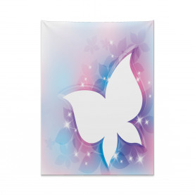 White Floral Magical Tapestry
