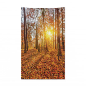 Foggy Sunset Sunbeams Tapestry