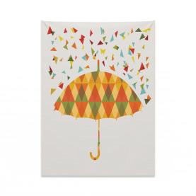 Dreiecke Regenschirm Wandteppich