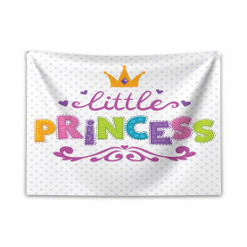 Kleines Prinzessin Zitat Breiter Wandteppich