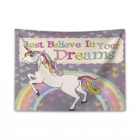 Glaube an deine Träume Breiter Wandteppich