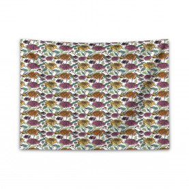 Bloomed Japanese Flower Wide Tapestry