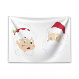 North Pole Santa Claus Wide Tapestry