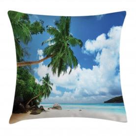 Kokosnuss-Baum-Strand Kissenbezug