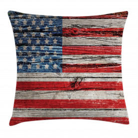 American  Throw Pillow Case Fourth of July Theme Cushion Cover