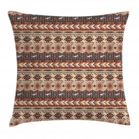 Tribal Ethnic Artsy Throw Pillow Cushion Cover